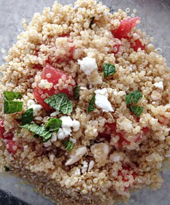 Watermelon and Feta Quinoa Salad