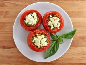 Recipe: Quinoa Stuffed Tomatoes w/ Goat Cheese