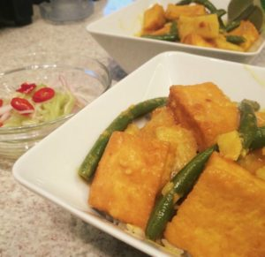 Panang Curry with Fried Tofu
