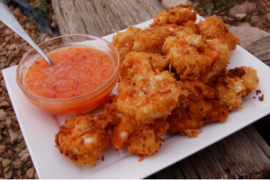 Healthy Baked Coconut Shrimp