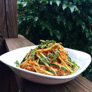 Zucchini Noodle Pasta w/ RAW Tropical Marinara
