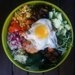 Homemade Korean Tofu Bibimbap