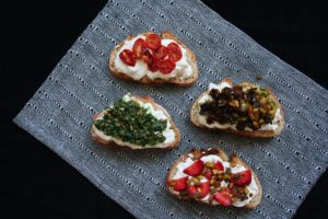A Variety of Burrata Toasts