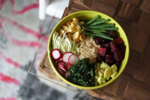 Quinoa Veggie Power Bowl using a Local Farm Box from Peapod